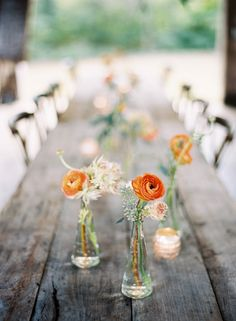 Simple but sweet centrepieces (the perfect DIY decor)