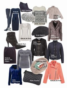 Shop winter fashion for your wardrobe | Koop wintermodes vir jou klerekas #fashion #winter