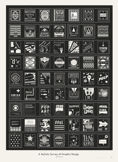 A Stylistic Survey of Graphic Design /// Pop Chart Lab