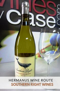 """""""Southern Right Wines in Hermanus produces a popular Sauvignon Blanc and Pinotage with labels depicting the southern right whale. Sauvignon Blanc, Wall Street Journal, Wine Recipes, Whale, Southern, African Safari, Bottle, Jet Set, South Africa"""