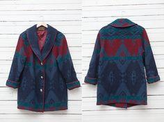 1970's Warm Vintage Blanket Jacket Wool / Women by CoverVintage, $59.00