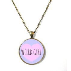 90s Style weird girl Necklace Bubblegum Nu Goth Pastel Goth Soft Grunge Jewelry, Funny Kawaii Creepy Spooky Cute Soft Ghetto Pizza Jewelry