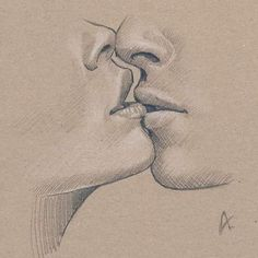 Image result for drawing people kiss