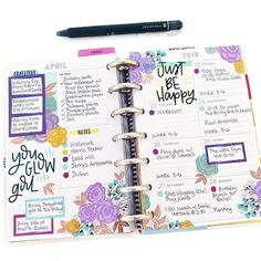 This layout has been so fun and functional this week. If could offer a monthly subscription for the fun florals sticker… To Do Planner, Mini Happy Planner, Planner Layout, Goals Planner, Planner Pages, Planner Stickers, Planner Ideas, Project Life Planner, Filofax