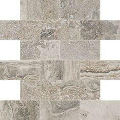 Daltile Silverstone Exquisite - x Brick Joint Mosaic Wall & Floor Tile - Textured Travertine Visual Mosaic Wall Tiles, Marble Mosaic, Mosaic Glass, Mosaics, Best Floor Tiles, Thing 1, Stone Tiles, Glazed Ceramic, Porcelain Tile