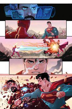Dc Comics Vs Marvel, Arte Dc Comics, Marvel Films, Fun Comics, Marvel Heroes, Marvel Funny, Best Dc Comics, Thor Vs Superman, Mundo Superman
