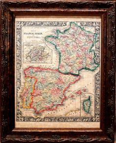 France/Spain/Portugal 1864 Map