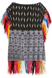 Sensi StudioMacana fringed woven cotton mini dress