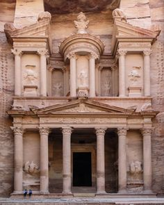 Petra (Arabic: البتراء ) is an archaeological city in the southern Jordanian governorate of Ma'an, famous for it's architecture and water conduit system. ~Al Khazneh. Angkor Vat, Angkor Temple, Monuments, Solomons Temple, City Of Petra, Seven Wonders, Lost City, Top Destinations, Amman