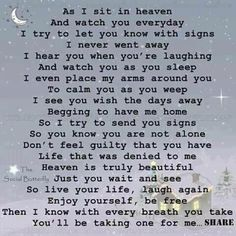 For my sister and my dad...In Loving Memory