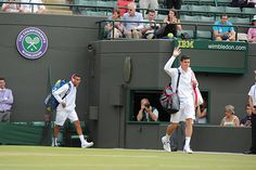 Nick Kyrgios and Milos Raonic before the start of their match on No.1 Court