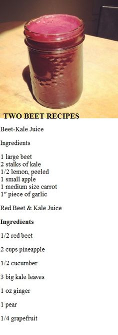 Two Beet Recipes
