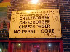 """Billy Goat's Grill, """"Cheezborger, Cheezborger, Cheezborger,"""" Chicago"""