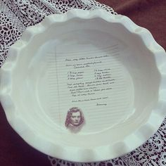Instant heirlooms: custom ceramic plates fired with handwritten family recipes.