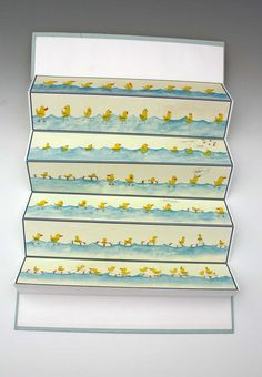 Handbound Accordion Book Can You Swim by Shinehah on Etsy
