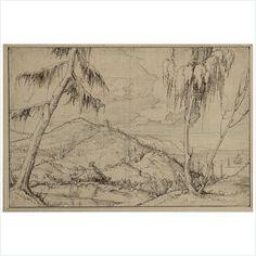 Erhard Altdorfer - Sea Landscape, 1520-50. Pen and ink.