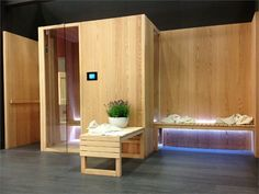 Finnish #sauna HITA by GLASS IDROMASSAGGIO | #Design Enzo Berti #wood #wellness