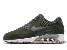 timeless design 72f93 5d9f0 Nike WMNS Air Max 90 LTR Carbon Green 768887 301 Chausport Officiel Prix  Pour Femme Enfant