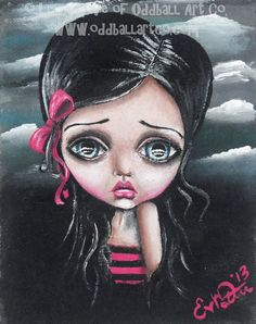 Big Eye Art Print Signed Tale Of A Dark Princess by OddballArtCo, $14.99