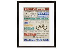 One Kings Lane - If These Walls Could Talk - Forgive and Let Go Framed Print
