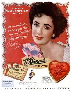 Elizabeth Taylor for Whitman's Chocolates, 1952