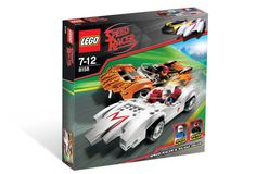Speed Racer was a subtheme of Racers released in 2008 and discontinued the same year so based on the film of the same name, it's a small line, featuring only four sets. The vehicles are drawn mainly from the pure speed-racing segments of the film, with only Cruncher Block's truck featuring any of the hidden weapon upgrades the cars are seen using at some points on-screen. Sets top • bottom Characters See also Racers World Racers Class 4 Speed Racer Years 2008 Subtheme of Racers Relate...
