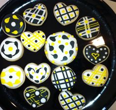 Hearts and Circles - Decorated Sugar Cookies by I Am The Cookie Lady