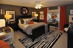 Master Bedroom Ideas with Decorative Area Rug Picture