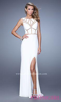 Long High Neck La Femme Prom Dress at PromGirl.com