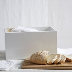 £35 Lacquer Bread Bin | The White Company UK