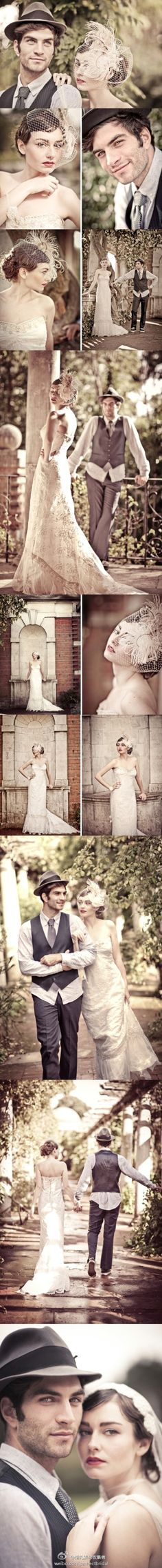 Wedding portrait in vintage style~ You guys would look fabulous in  pics like these (or any pics for that matter)