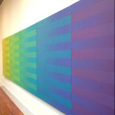 "Elaine Kurtz, ""Cool Spectrum,"" 1974. At Woodmere Art Museum."