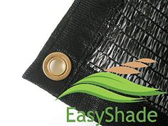 Easyshade 50% Black Shade Cloth Taped Edge With Grommets Uv 12Ft X 10 Ft, 2015 Amazon Top Rated Shade Cloth #Lawn&Patio