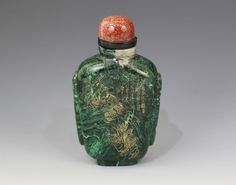 Chinese Malachite Stone Snuff Bottle