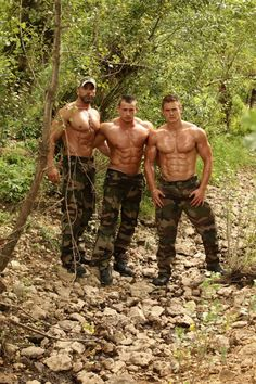 army studs in the woods #hunks