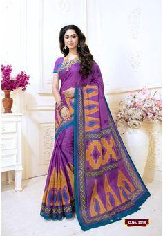Designer Sarees Collection, Saree Collection, Magenta, Purple, Cotton Saree, Kurti, Apps, Textiles, Traditional