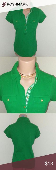 Lands End Polo Classic polo! In great condition. Lands' End Tops Button Down Shirts
