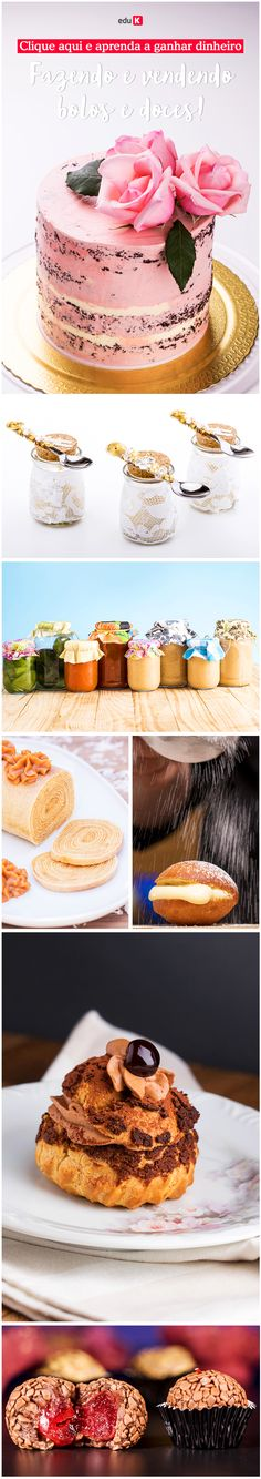 Clique e aprenda a fazer doces lindos e gostosos! Aprenda a fazer diversos bolos e doces