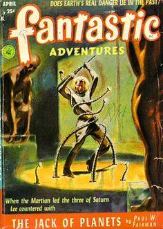 Publication: Fantastic Adventures, April 1952  Editors: Howard Browne Year: 1952-04-00 Publisher: Ziff-Davis Publishing Company  Cover: Leo Ramon Summers