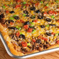 Taco Pizza - Recipes, Dinner Ideas, Healthy Recipes & Food Guide