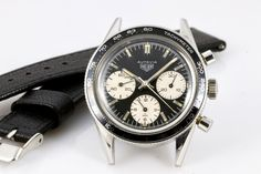 Vintage Heuer Autavia chronograph with panda dial - Vintage Watches