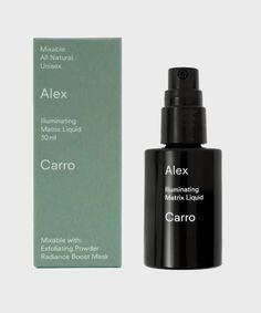 Illuminating Matrix Liquid, 30ml – Alex Carro Skincare Skincare Packaging, Cosmetic Packaging, Packaging Ideas, Packaging Design, Packaging Stickers, Label Design, Greasy Skin, Acne Spots, Cosmetic Design