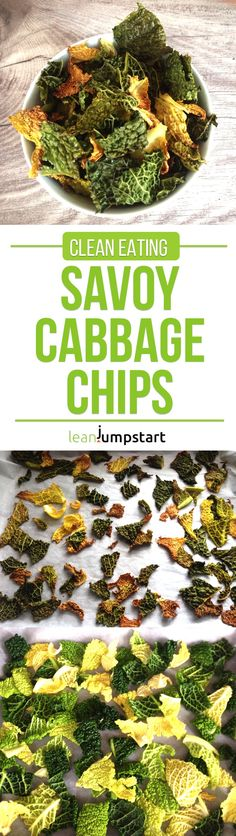 Savoy Cabbage Chips: Super Tasty, Crispy & Easy Clean Eating Snack #savoycabbage #cabbagechips #eatclean via @leanjumpstart