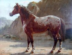 Noriker Horse by Otto Eerelman Noriker Horse, Appaloosa Horses, Pretty Horses, Horse Love, Mediums Of Art, Horse Artwork, Animal Paintings, Horse Paintings, Horse Portrait