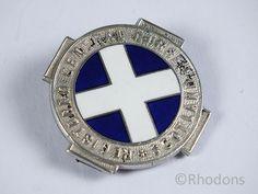 Scottish Registered General Nurse Silver and Enamel Badge Nursing Board, Nursing Pins, Glasgow, Edinburgh, School Badges, Vintage Nurse, Nurse Badge, Nurse Humor, Nursing Students