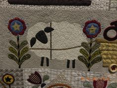 Letter Carriers by Janet Stone, quilted by Janet Stone.  Appliqued woven fabrics.  MQS 2012.