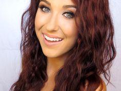 Best ever -- Jaclyn Hill - Professional Makeup Artist Brown Auburn Hair, Dark Red Hair, Green Smokey Eye, Celebrity Makeup Looks, Smokey Eye Tutorial, I Love Makeup, Gorgeous Makeup, Hair Videos, Makeup Videos