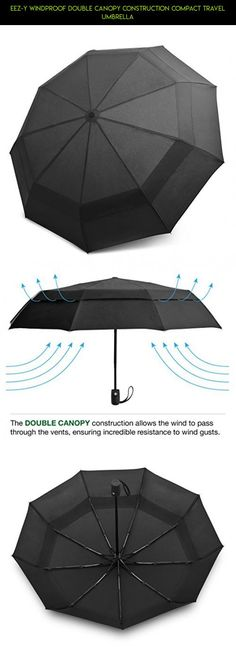 EEZ-Y Windproof Double Canopy Construction Compact Travel Umbrella #gadgets #fpv #products #racing #parts #umbrella #technology #shopping #tech #drone #kit #plans #gardening #camera