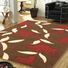 Brown Red Rug