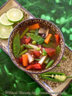 Thai inspired Vegetable Soup by Bitter-Sweet Blog - I sometimes make something similar. I love Thai-style soups.